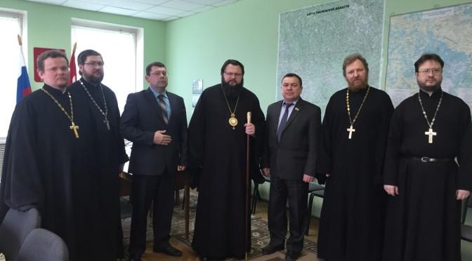 Визит митрополита Исидора в Ершичский район
